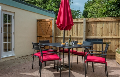 Outdoor Patio area at Vicarage Cottage